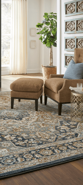 Area Rugs cover on hardwood floor | BMG Flooring & Tile Center
