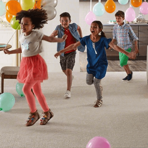 Kids doing party | BMG Flooring & Tile Center