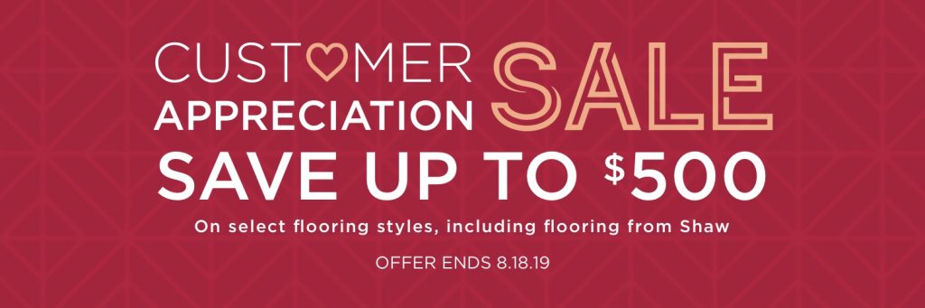 Customer Appreciation Sale | BMG Flooring & Tile Center