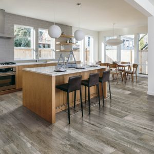 Bryson Valley Nantucket Estate Tile flooring in kitchen | BMG Flooring & Tile Center