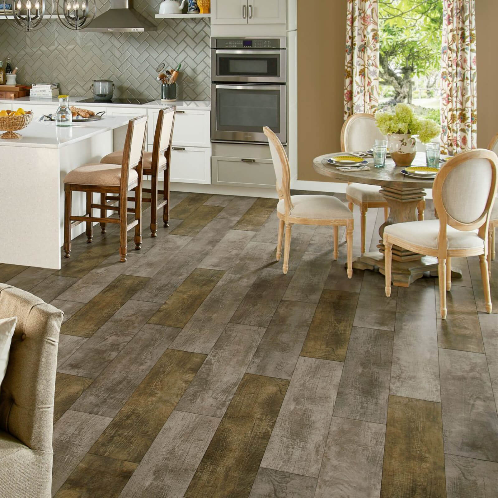 Homespun Harmony Luxury Vinyl Tile - Natural Burlap Vinyl Tile flooring | BMG Flooring & Tile Center