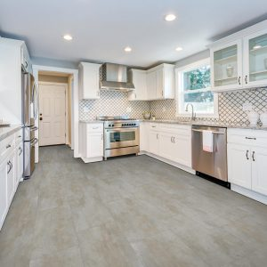 Laminate flooring in kitchen | BMG Flooring & Tile Center