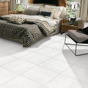 Winter Park White tile of bedroom | BMG Flooring & Tile Center
