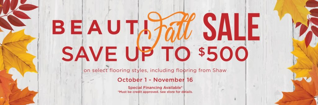 Beautifall sale banner | BMG Flooring & Tile Center
