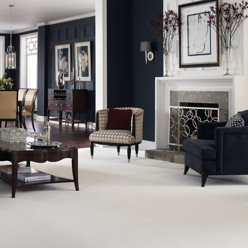 White Carpet in Living room | BMG Flooring & Tile Center