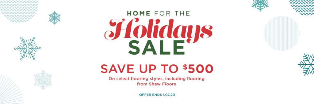 Home for the holidays sale | BMG Flooring & Tile Center