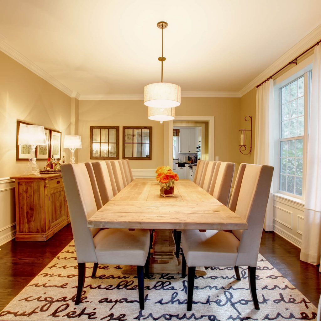 Dining room interior | BMG Flooring & Tile Center