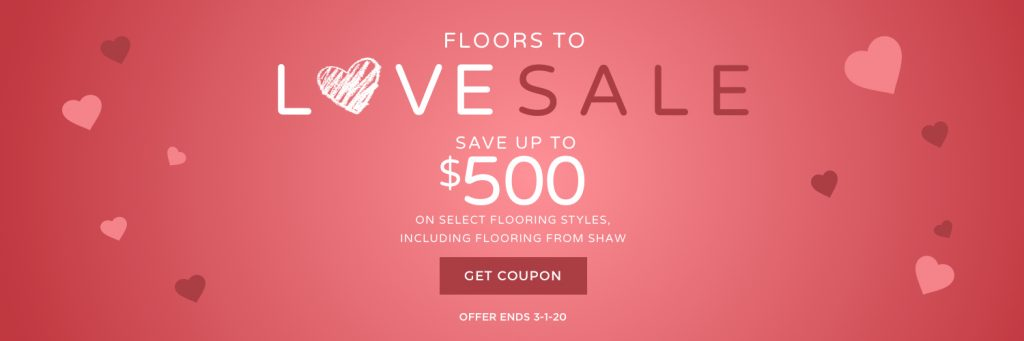 Love sale banner | BMG Flooring & Tile Center