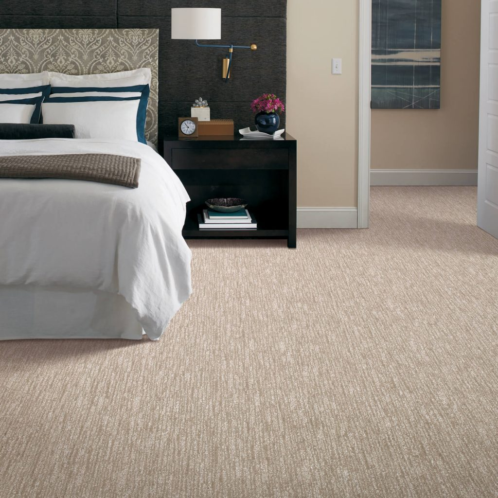 New carpet in bedroom | BMG Flooring & Tile Center